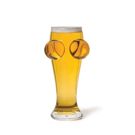 Boobies 'N' Beer Glass