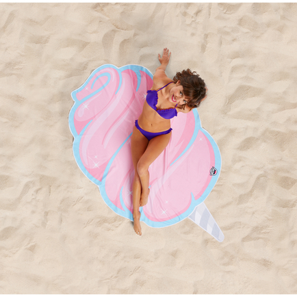 Gigantic Cotton Candy Beach Blanket