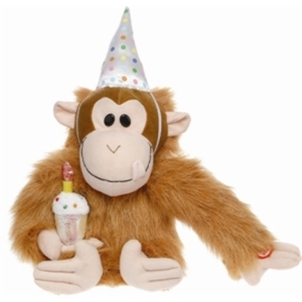 Happy Birthday Monkey Keychain Counter Display