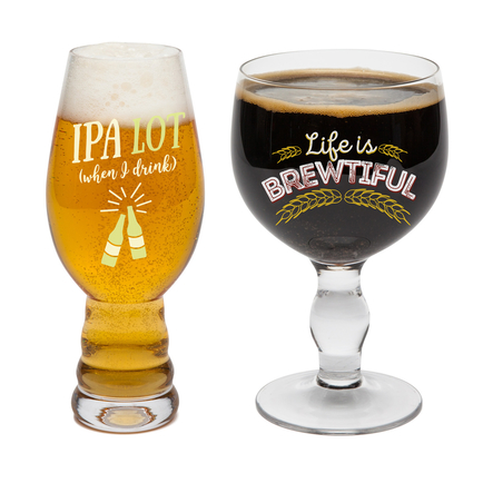 Beer Snob Drinking Glass (Set of 2)