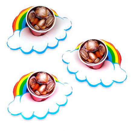 Happy Rainbow Beverage Floats