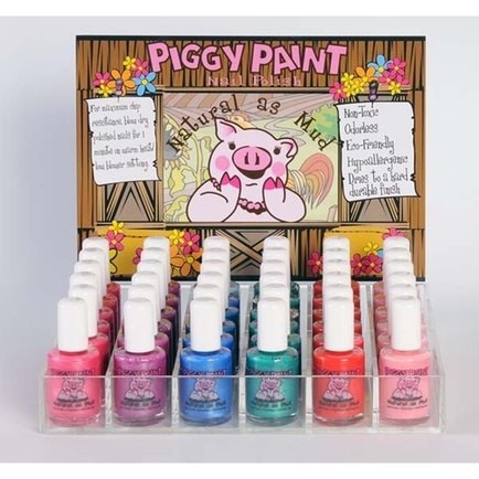 Piggy Paint Acrylic Display 36pc Fully Loaded