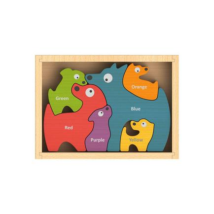 Dog Family Bilingual Puzzle (English-Spanish)