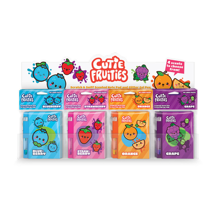 Cutie Fruities Sketch&Sniff Notepads (Display of 32)