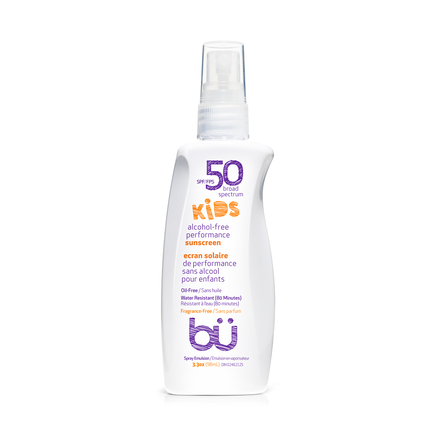 BU SPF50 KIDS Fragrance Free Sunscreen Spray 98ml