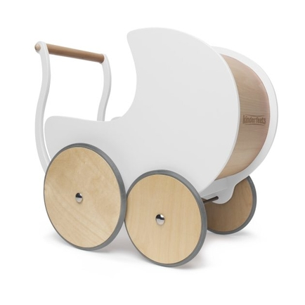 Kinderfeets Doll Pram in White