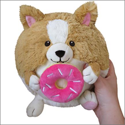 Mini Squishable Corgi Holding a Donut