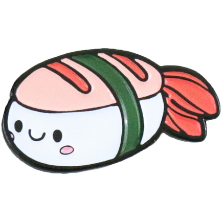 Enamel Pin - Shrimp Sushi