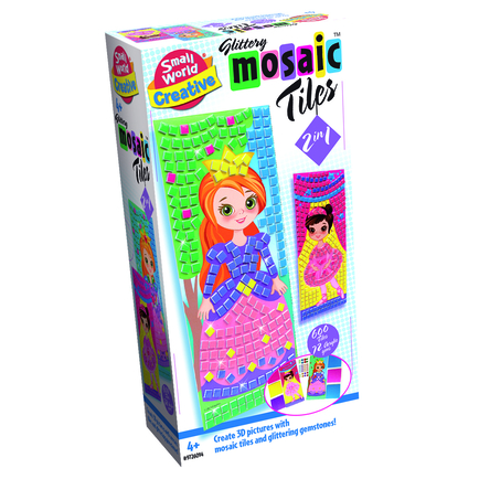 Glittery Mosaic Tiles 2 in 1