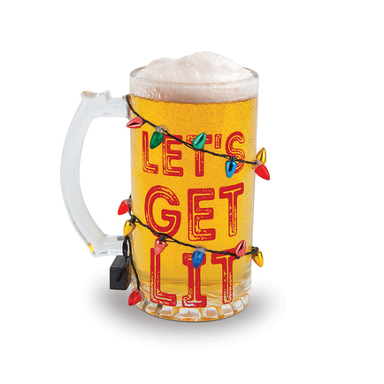 The Get Lit LED Holiday Beer Glass