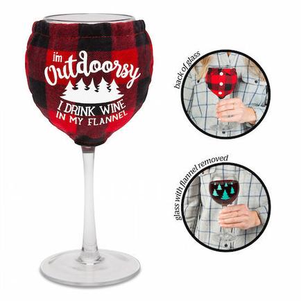 Flannel Wine Glass (Flannel Wrap)