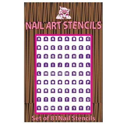 Alphabet (Purple) Nail Stencils