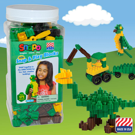 Snap and Play-Over 275 Pcs (Green/Yellow/Brown)