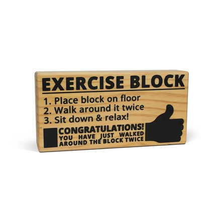 Wooden Exercise Block