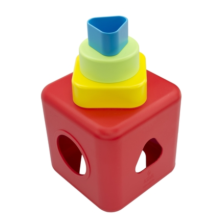 Shape Sorting and Stacking Cube
