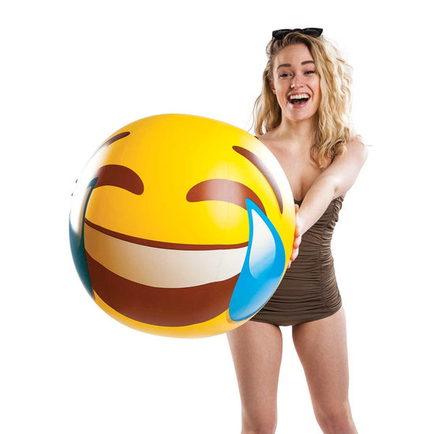 Giant Tears of Joy Emoji Beach Ball