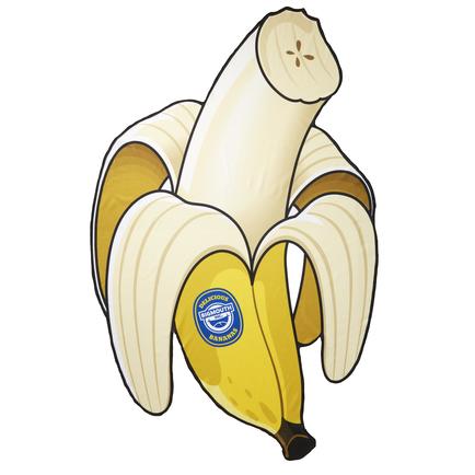 Gigantic Banana Beach Blanket