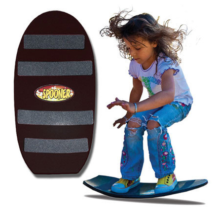 24 inch freestyle spooner board black