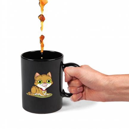 Colour Changing Kitten Mug