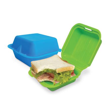Fun Sandwich Box 2pk (Blue and Green)
