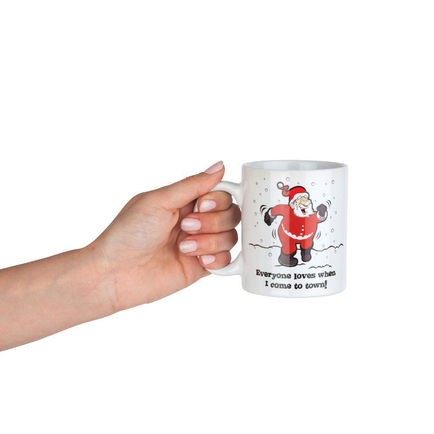 Colour Changing Before and After Naughty Santa Mug