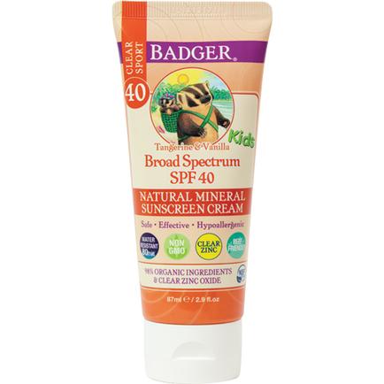 SPF 40 Kids Sport Clear Zinc Sunscreen Cream 86ml