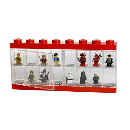 LEGO Minifigure Display 16 Red