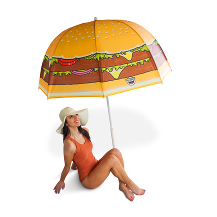 Cheeseburger Beach Umbrella