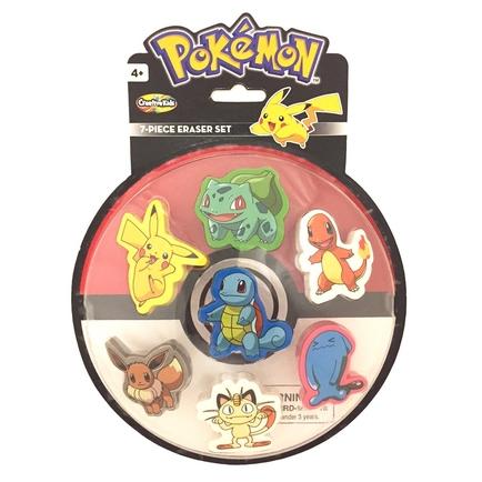 Pokemon Eraser 7-Pack