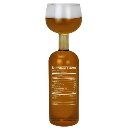 Wine Bottle Glass- Nutrition Label
