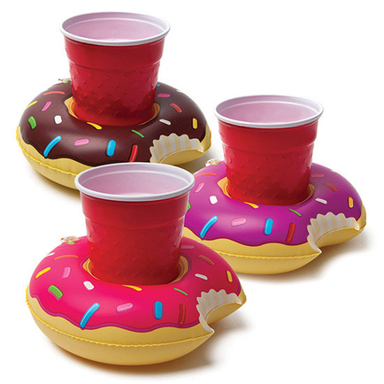 Donut Drink Floats 3pk(Pink Choc and Purple)