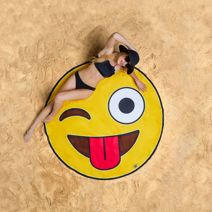 Gigantic Emoji Beach Blanket