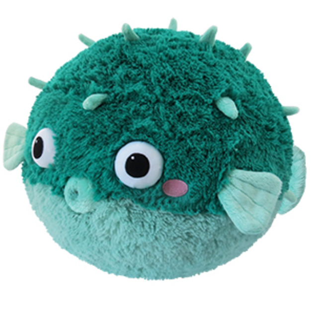 Stortz toys squishable teal pufferfish for Puffer fish stuffed animal