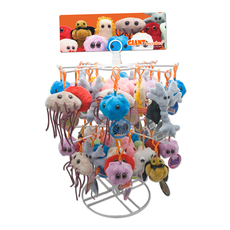 GIANTmicrobes Key Chain Display Free with 48pcs Purchase