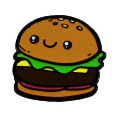 Enamel Pin - Hamburger