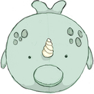 Micro Squishable Narwhal