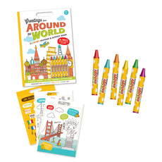 Around The World Activity Coloring Books