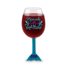 The Mermaid Tail XL Wine Glass