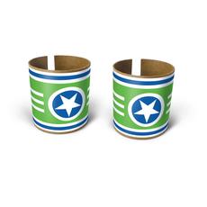 superstar bracelets green 2pk
