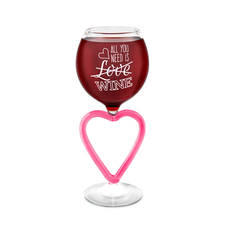 all you need is... WINE GLASS (heart glass)