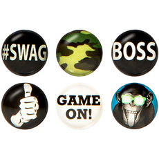 Boss Home Button Sticker Pack Includes 6pcs