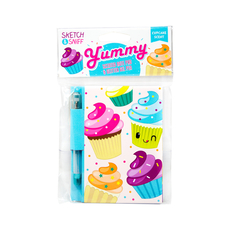 Yummy Sketch &Sniff Note Pads & pen - Cupcake