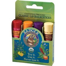 Classic Lip 4-pack (Green) - Tangerine / Lavender/ Vanilla/ Grapefruit