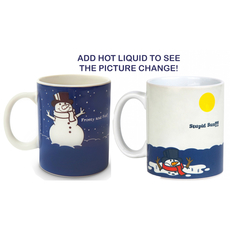 Colour Changing Before and After Meltin' Snowman