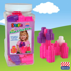 Dream and Play-35 Big Blocks (Pink/Purple/White)