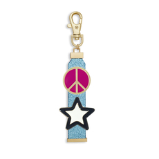 Blue Zipper Pull Set - Stardust and Pink Peace