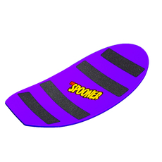 27 inch pro model spooner board purple