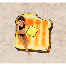 Gigantic Buttered Toast Beach Blanket