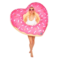 Giant Heart Shaped Donut Pool Float