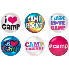 Camp Home Button Sticker Pack Includes 6pcs